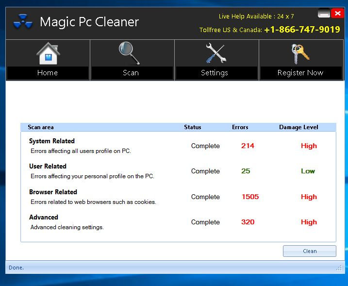 Magic PC Cleaner malware