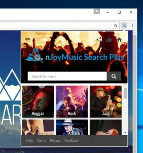 Remove nJoy Music Search Plus extension (Virus Removal Guide)