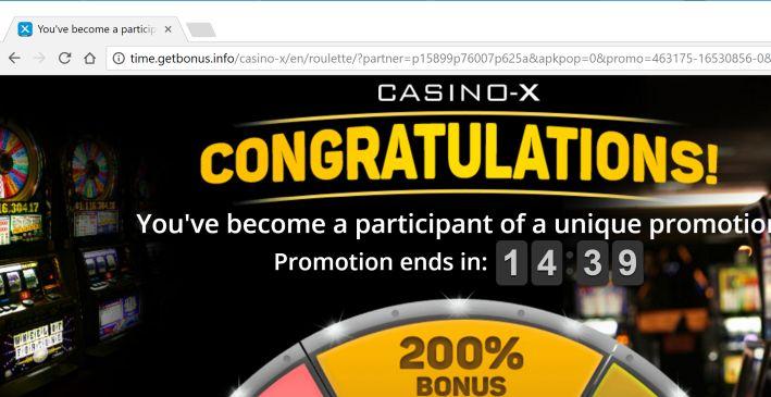 Casino pop up virus