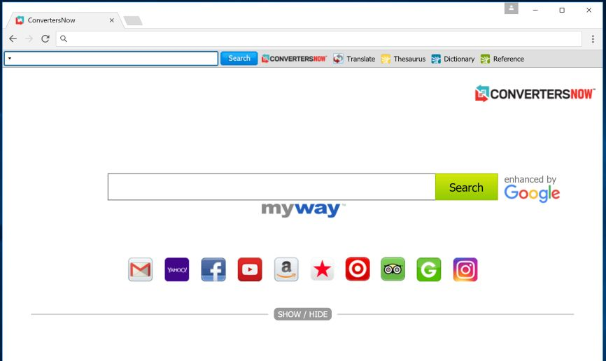 Convertersnow Toolbar By Myway