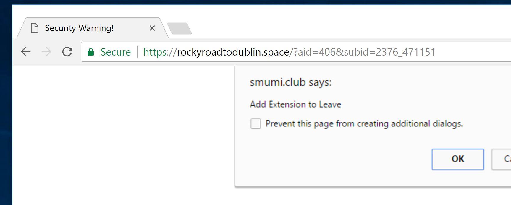 rockyroadtodublin.space virus
