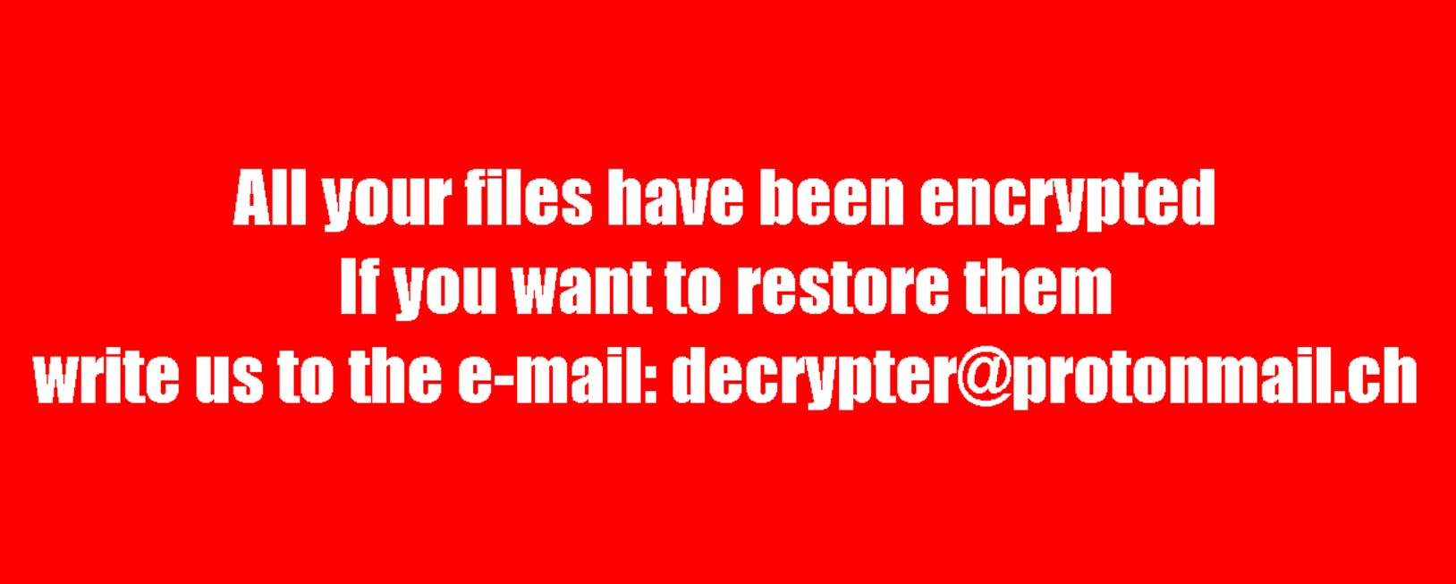 BTCWare Ransomware Files Encrypted