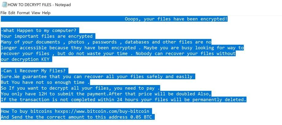 Hello ransomware virus