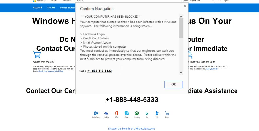 Do not ignore this high priority message Scam Virus