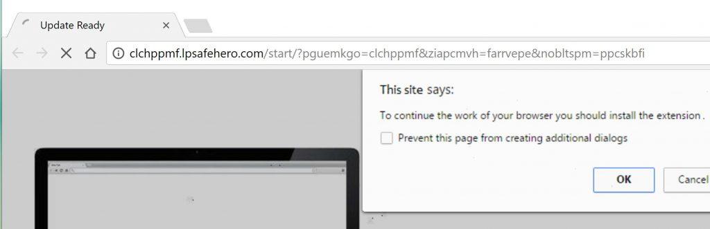 Install Web App Scam Virus
