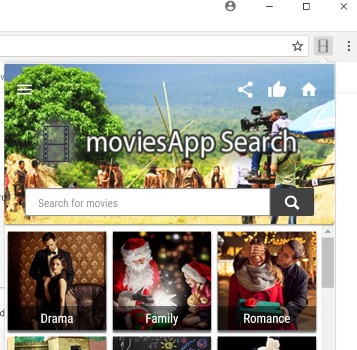 moviesApp Search redirect virus