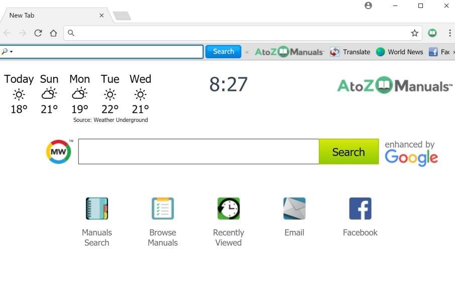 AtoZManuals Toolbar By MyWay