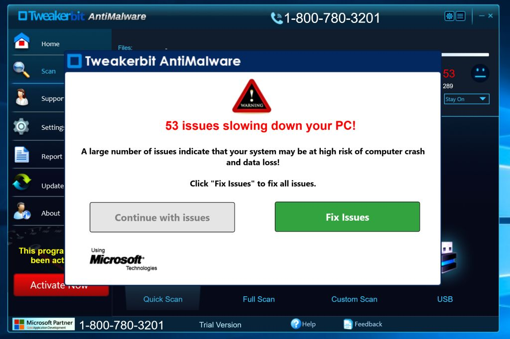 Tweakerbit Antimalware Virus