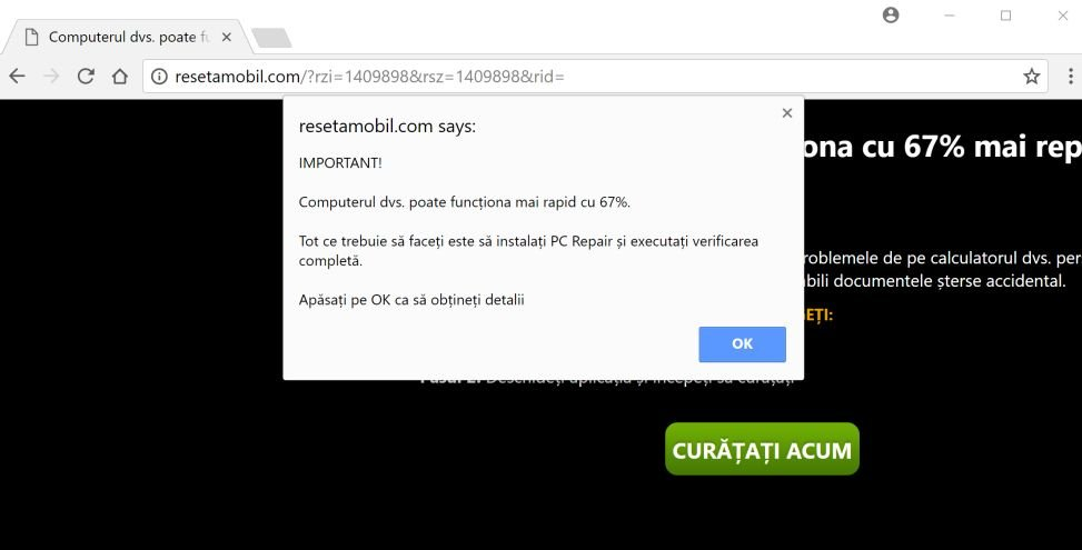 resetamobil.com redirect virus