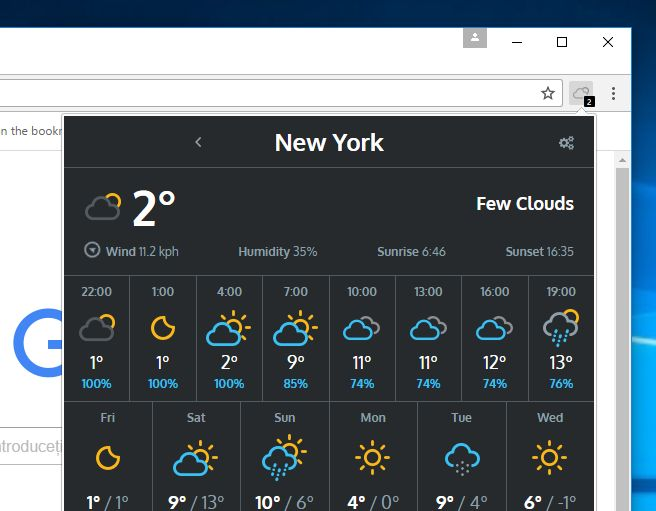 Weather for Chrome adware Scam