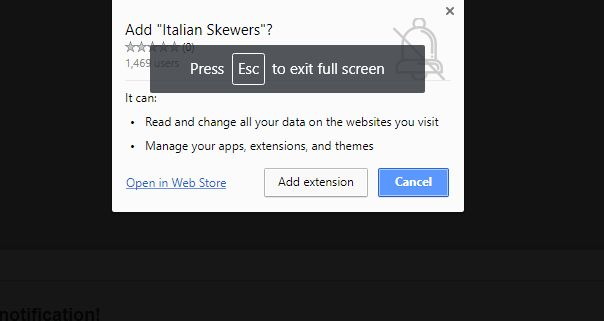 Italian Skewers Chrome Scam