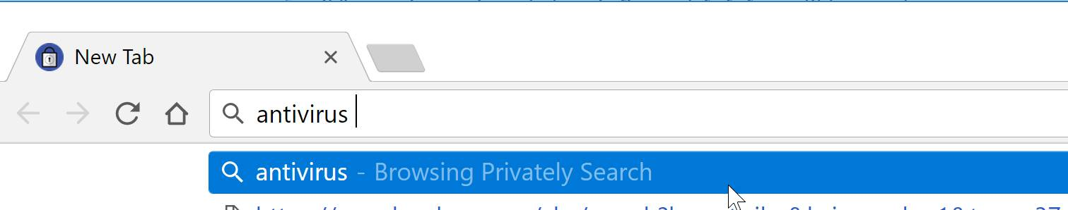 Browsing Privately Search redirect