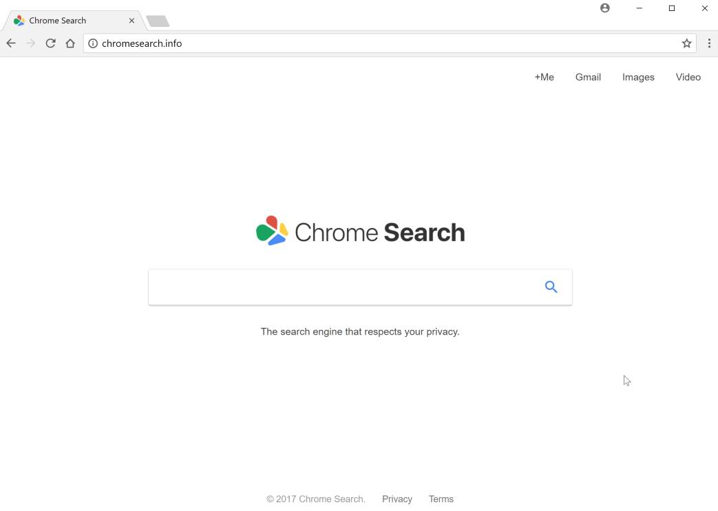 Chrome Search Info redirect virus