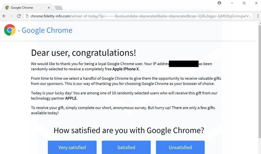 Chrome keeps opening with fb giveaways