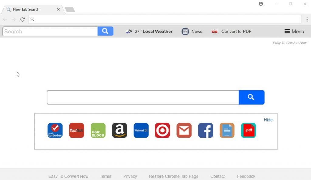 Easy To Convert Now New Tab search