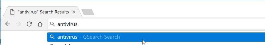 GSearch Search redirect