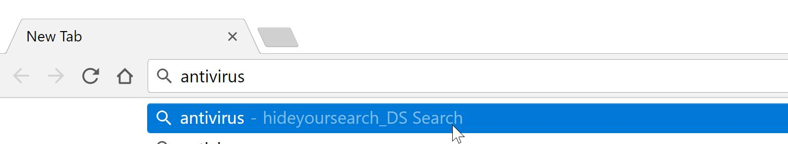 Hideyoursearch_DS search redirect virus
