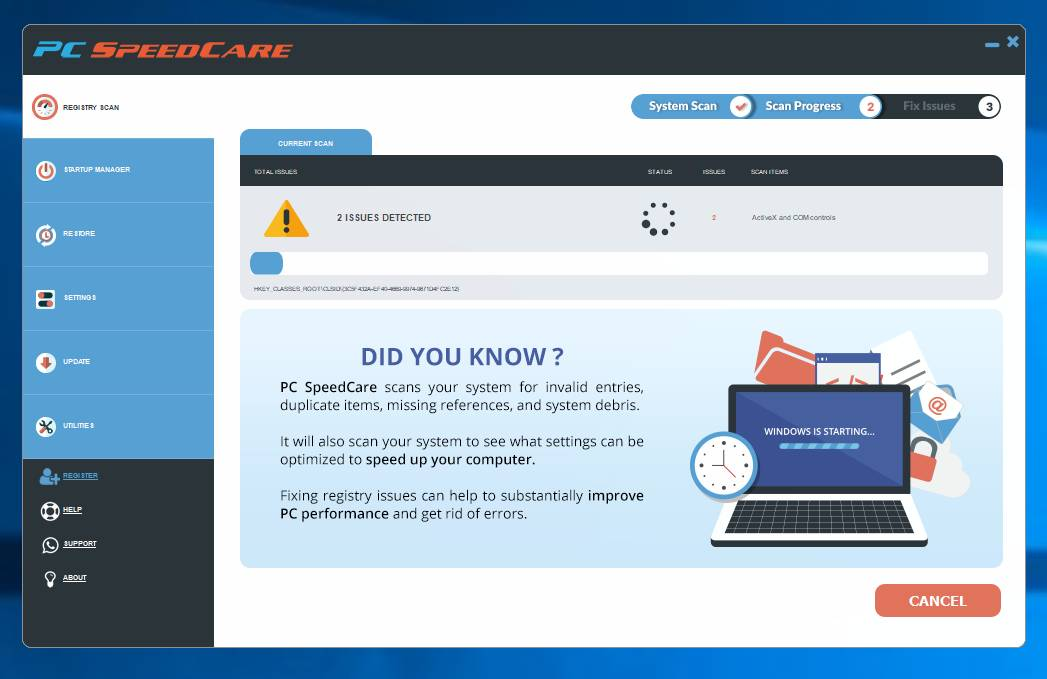 PC Speed Care adware