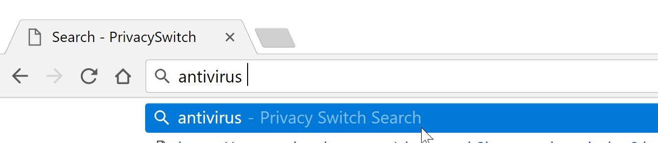 Privacy Switch Search redirect virus