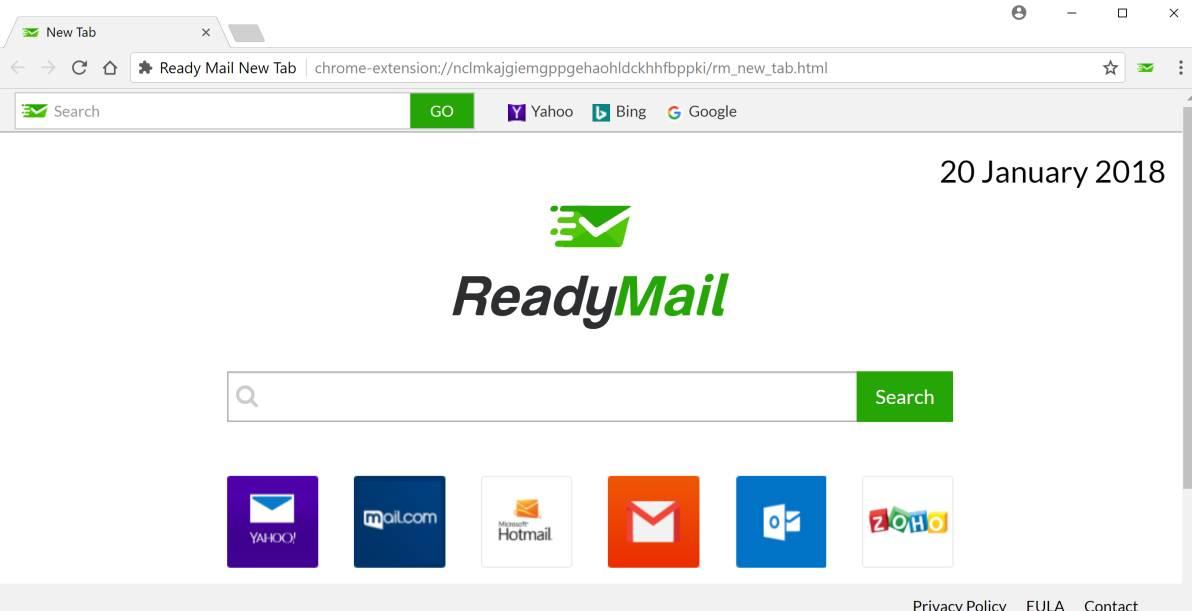Ready Mail New Tab redirect virus