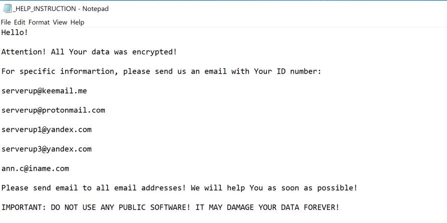 SERVER ransomware Virus
