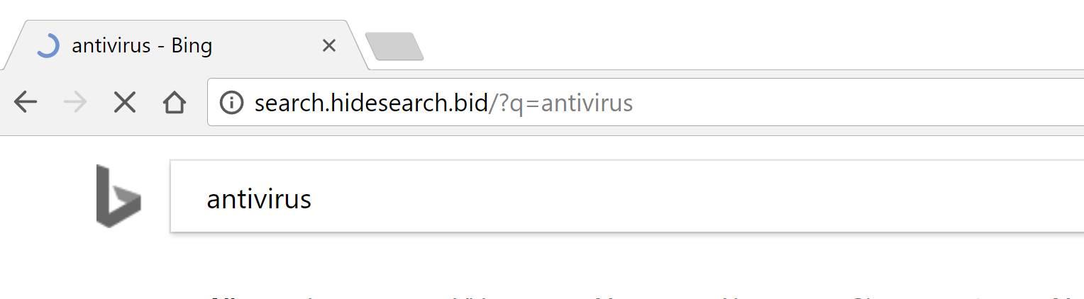 Search.hidesearch.bid redirect virus