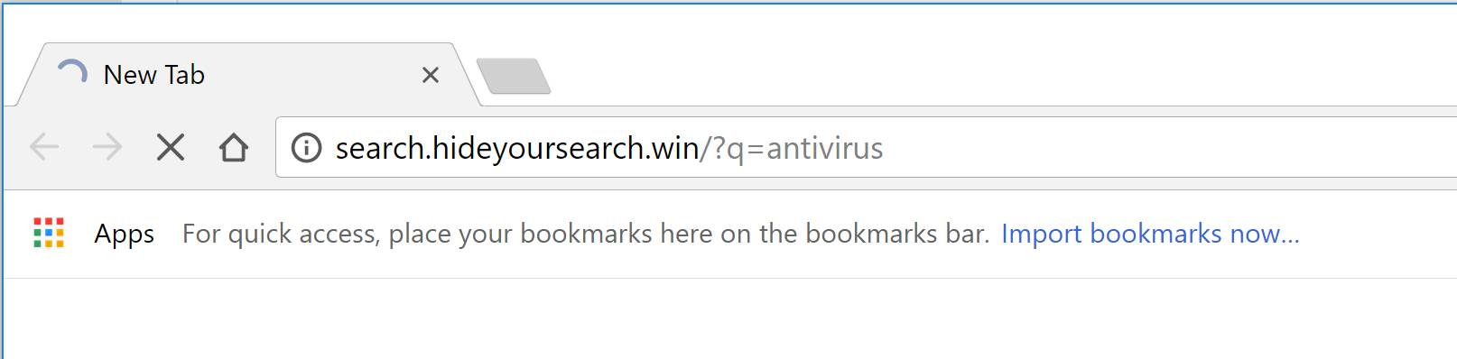 Search.hideyoursearch.win redirect virus