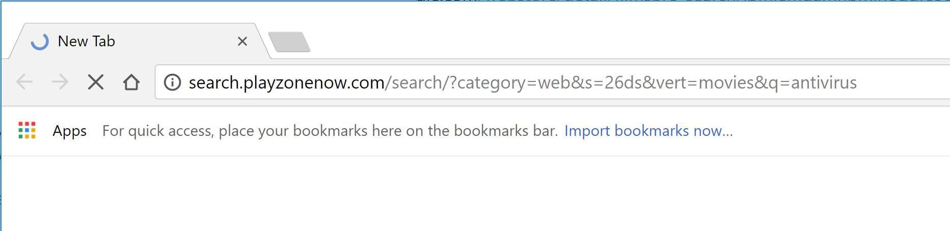 Search.playzonenow.com redirect virus