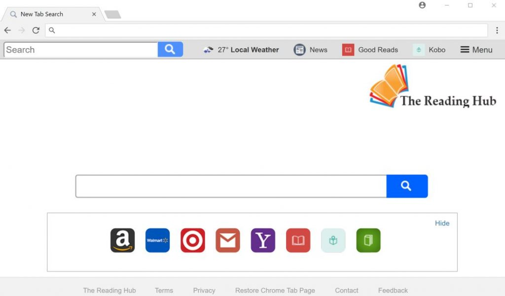 The Reading Hub New Tab search
