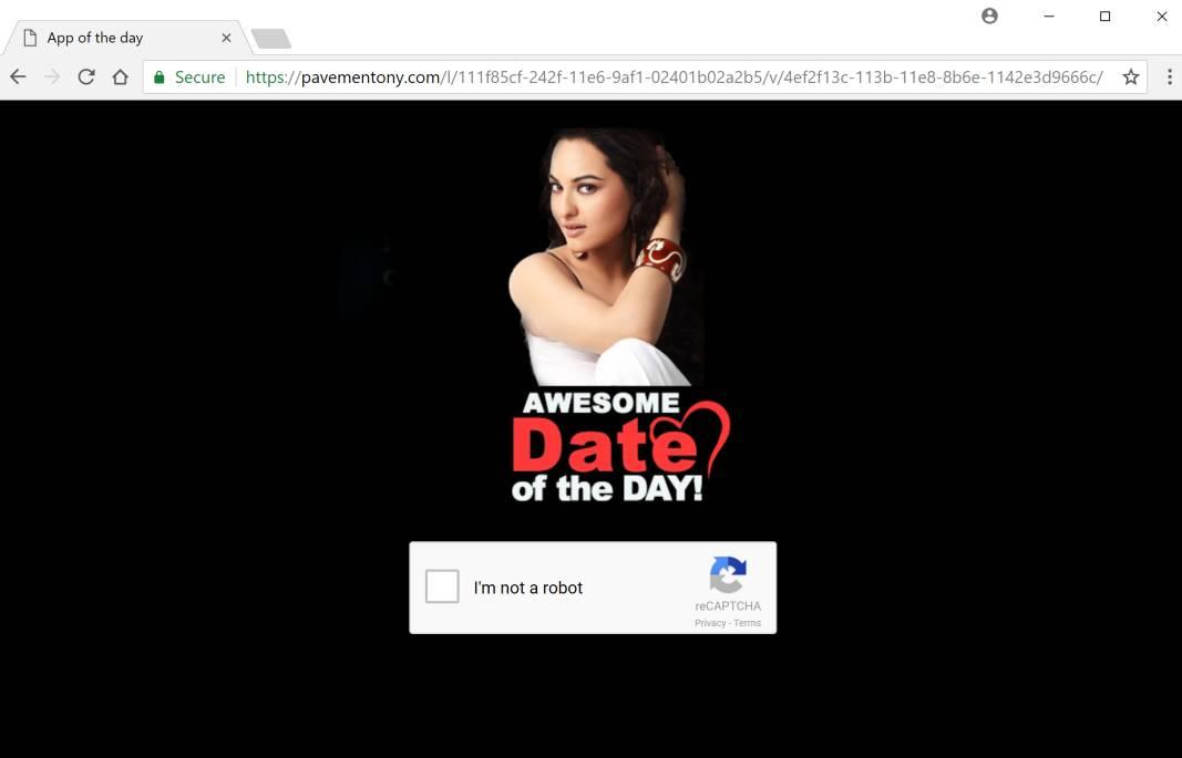 Pavementony.com redirect virus