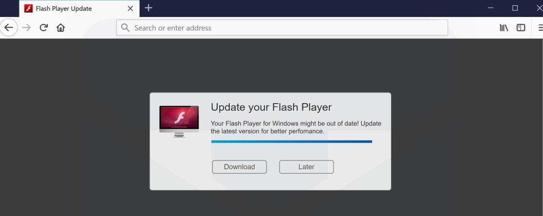 flash player needs updating