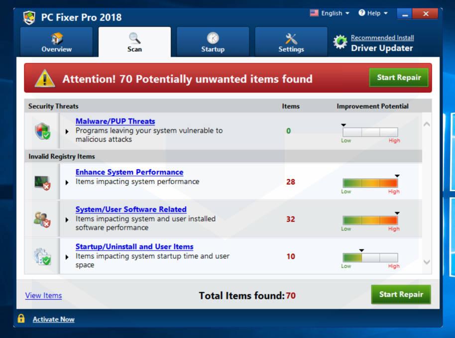 PC Fixer Pro 2018 Adware