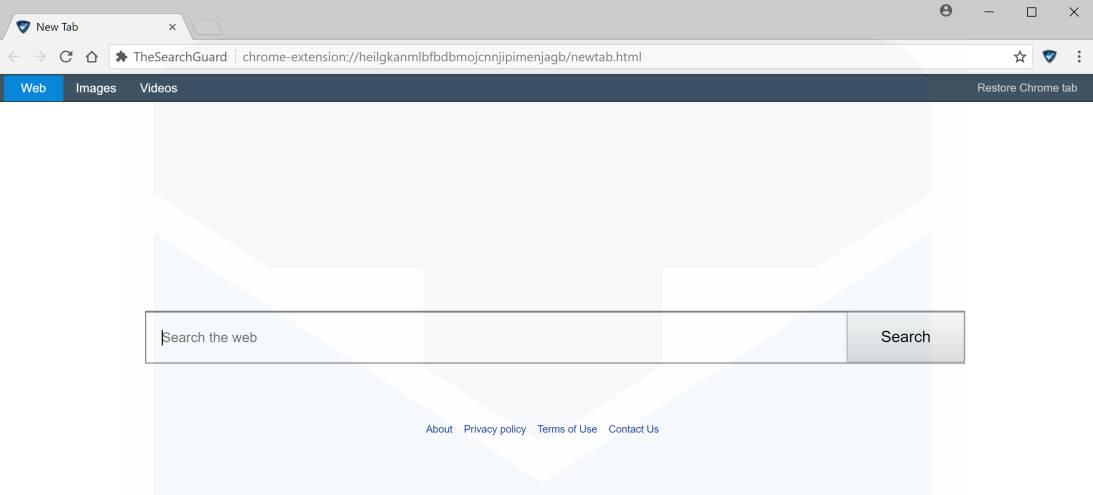 TheSearchGuard New Tab redirect