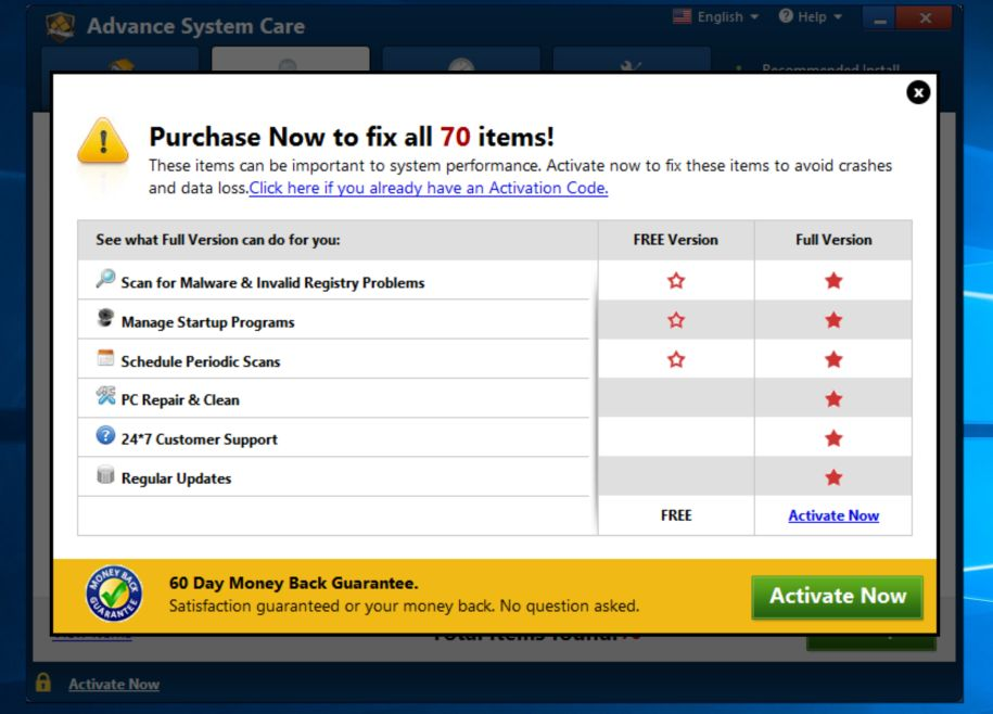 advance care system download