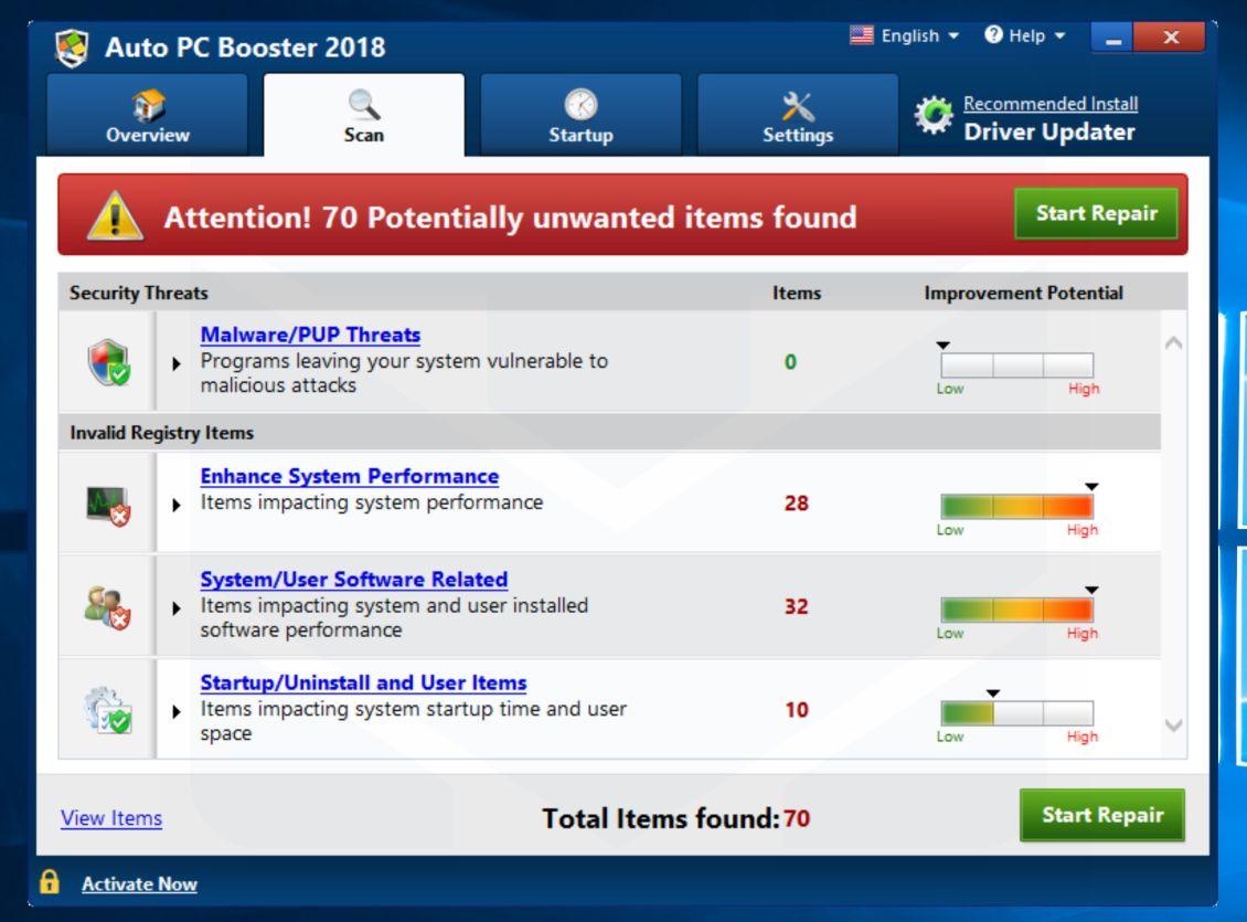 Auto PC Booster 2018 adware