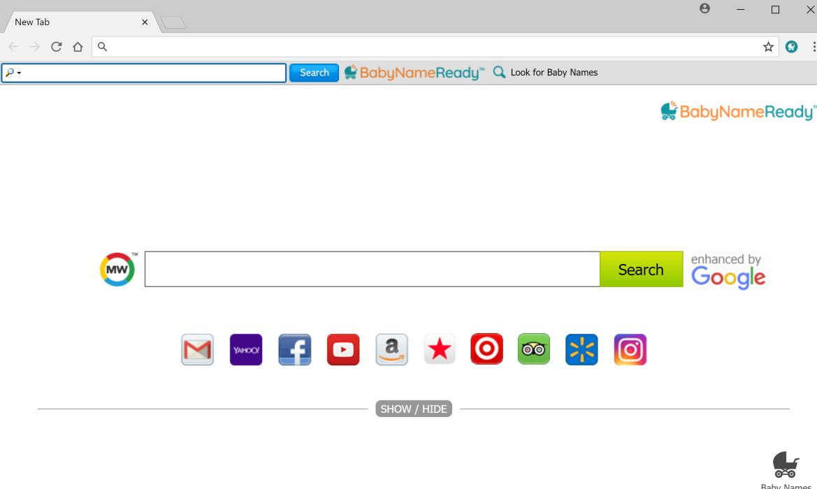 BabyNameReady Toolbar adware