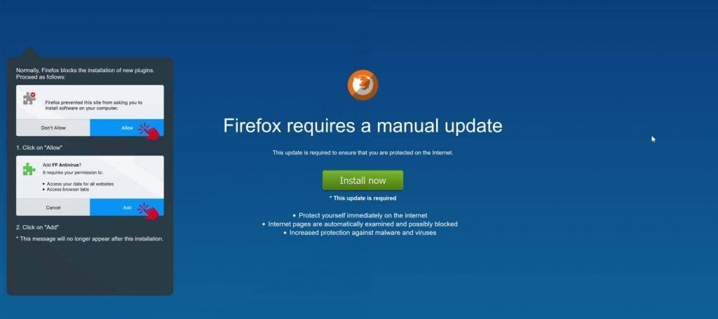 FF Defender Guard Adware Firefox Scam