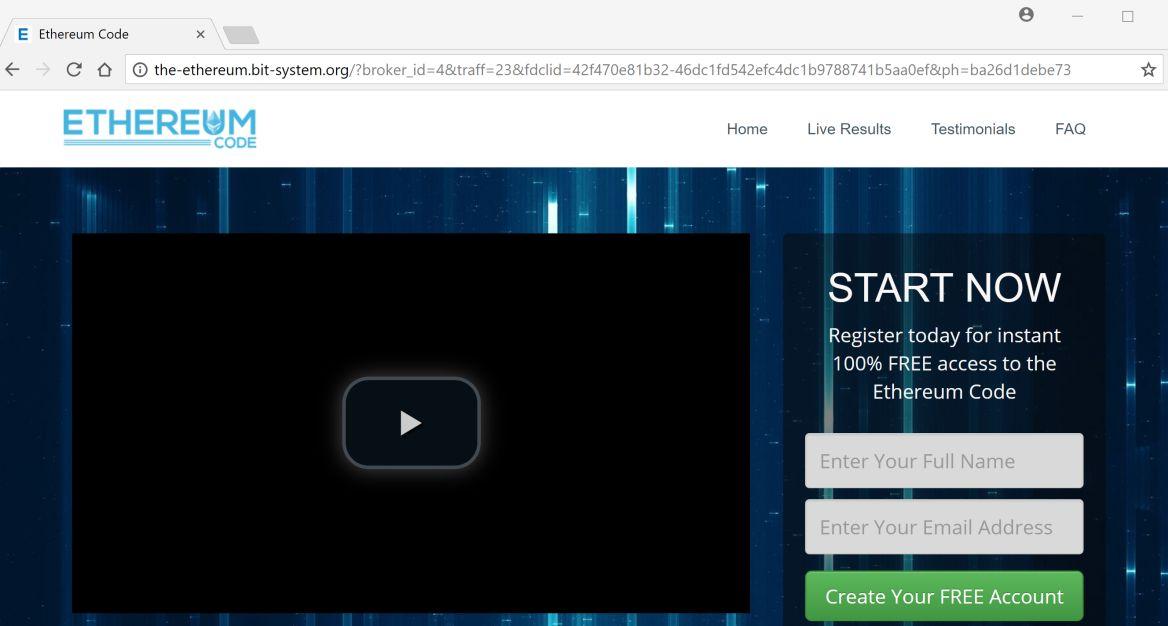 the-ethereum.bit-system.org redirect virus