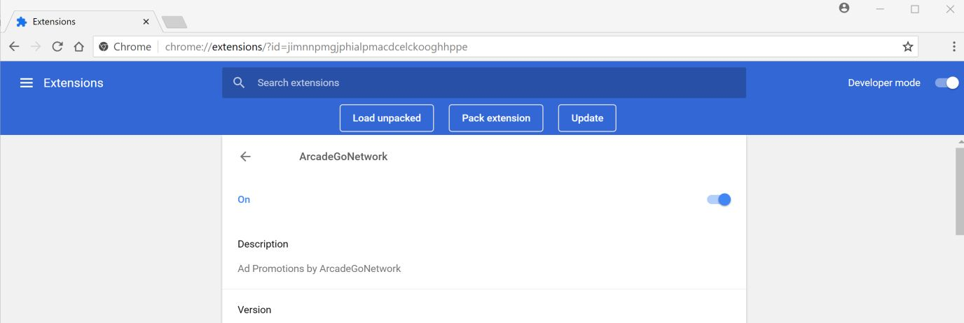 Image result for ArcadeGoNetwork Chrome Adware Extension