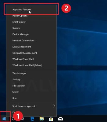 Go to Apps and Features in Windows 10
