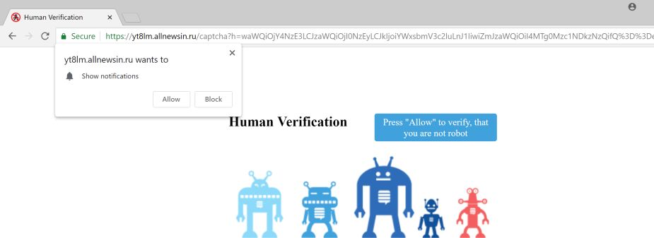 Human Verification Pop-up Scam