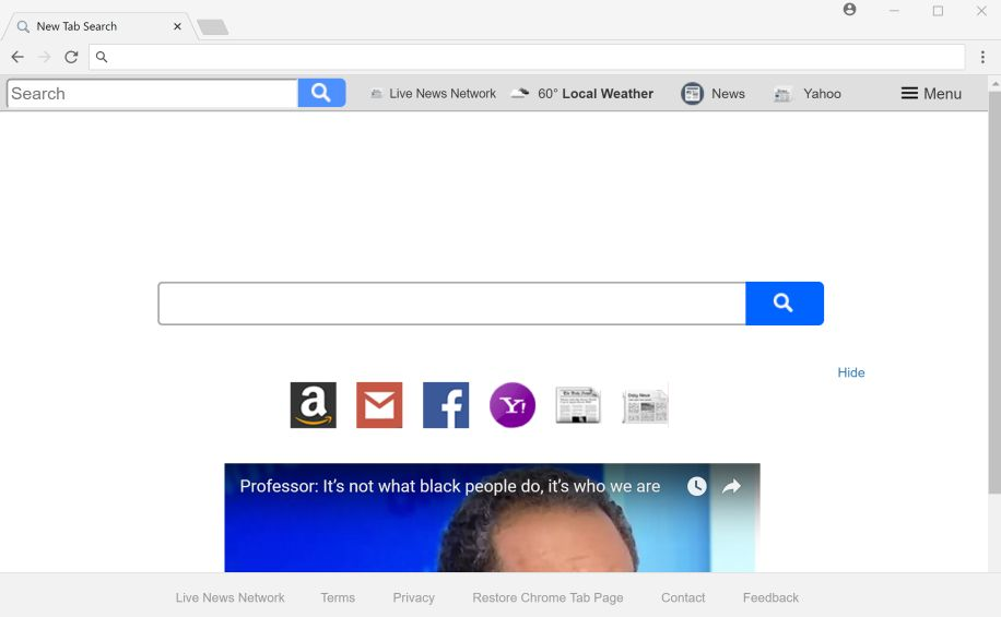 Live News Network New Tab Search redirect
