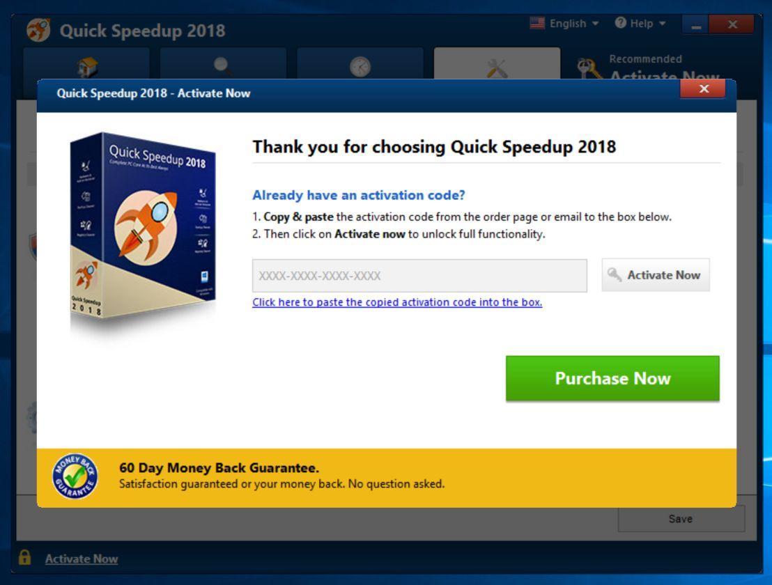 Quick Speedup 2018 Scam