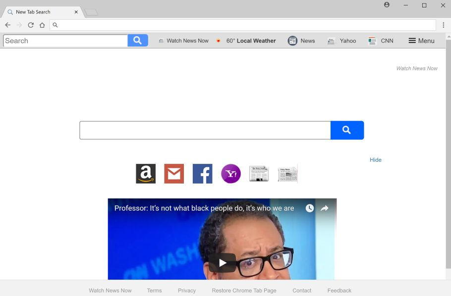 Watch News Now New Tab Search redirect