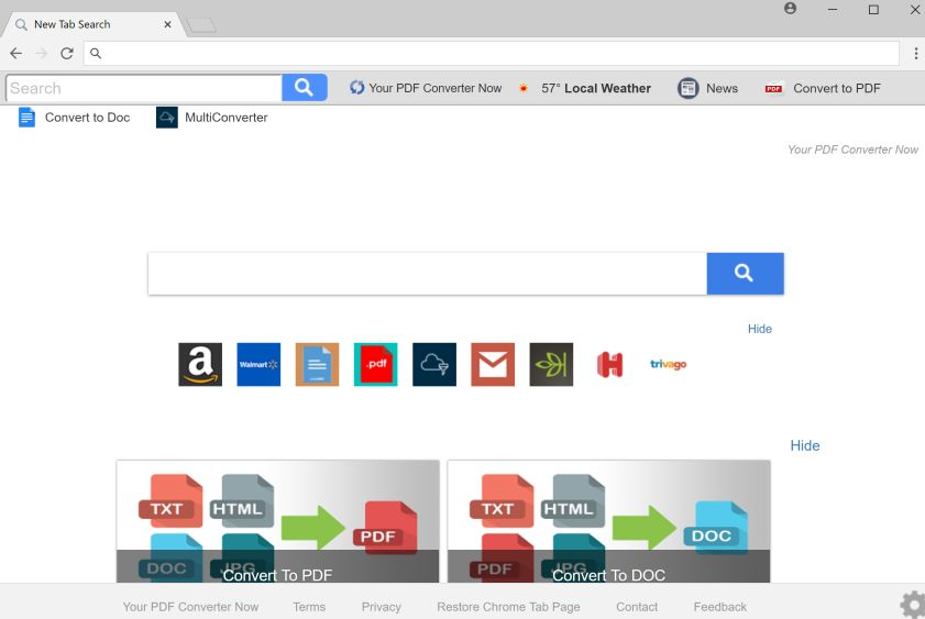 Remove Your PDF Converter Now New Tab Search (Virus Help Guide)