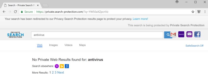 private.search-protection.com redirect virus