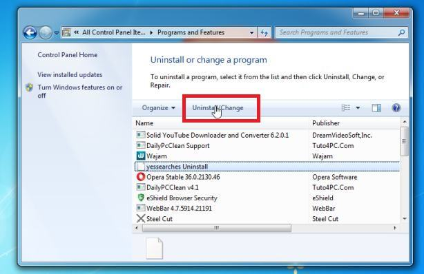 Uninstall malicious programs from Windows 7 - Help Guide