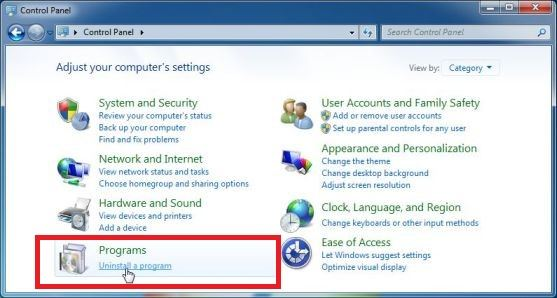 how to close support scam windows 7