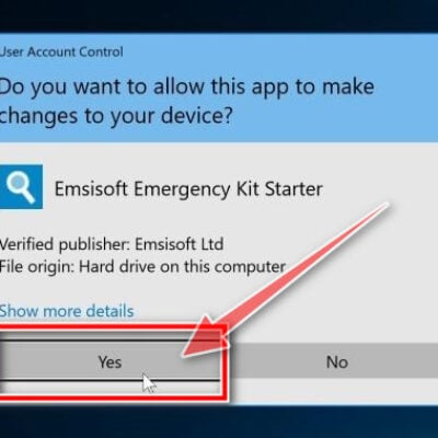 Allow Emsisoft to run on your PC