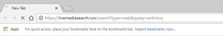 Livemediasearch.run redirect virus